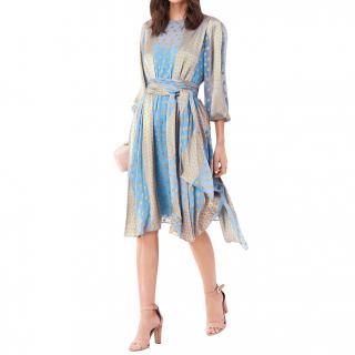 Diane Von Furstenberg Printed Silk Blend Midi Dress