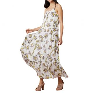 Diane Von Furstenberg Dragon Berry Print Silk Maxi Dress