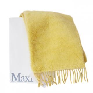 Max Mara Camel Yellow Teddy Shawl