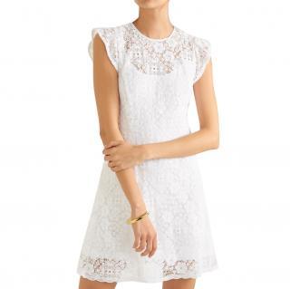 Michael Michael Kors White Lace Mini Dress