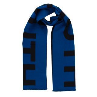 Alexander McQueen Blue & Black Wool
