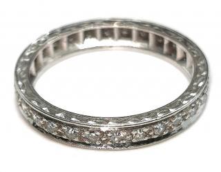 Bespoke Full Diamond 18ct White Gold Eternity Ring