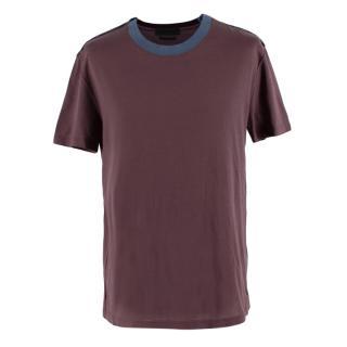 Alexander McQueen Contrast Collar Crewneck T-shirt