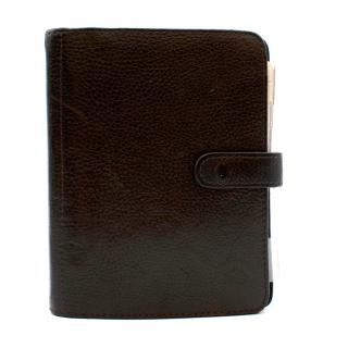 Mulberry Dark Brown Grained Leather Organiser