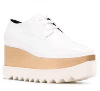 Stella McCartney Elyse White Platform Sneakers