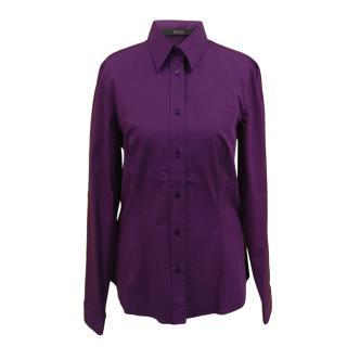 Boss Hugo Boss Purple Cotton Shirt