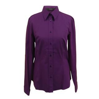 Boss Hugo Boss Purple Cotton Shirt