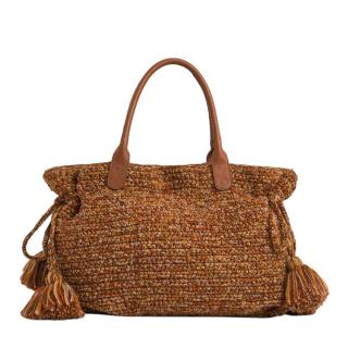 Gerard Darel 24 Autumnal Knitted Tote Bag