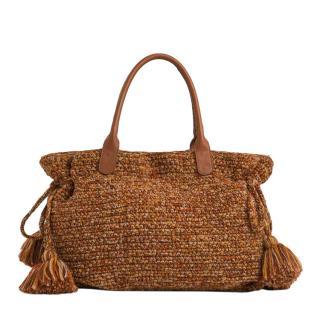 Gerard Darel 24 Autumnal Knitted Tote Bag