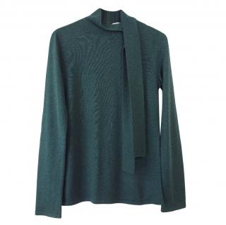 Goat Green Neck Tie Jumper
