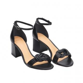 Alexandre Birman Black Knotted Block heel Sandals