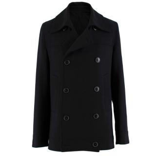 J.Lindeberg Black Wool blend Double Breasted Jacket