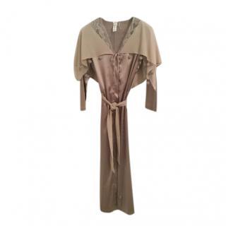 La Perla Lace-Trimmed Silk Robe