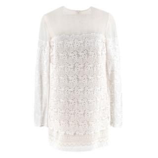 Ermanno Scervino Ivory Lace Dress