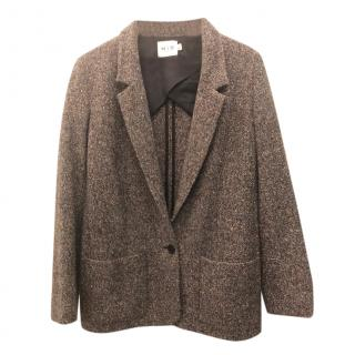 MiH Tweed Brown Tailored Jacket