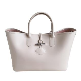 Longchamp Ivory Roseau Medium Tote Bag