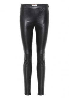 Saint Laurent Black Lambskin Leggings