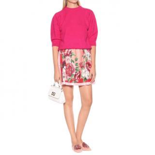 Dolce & Gabbana Pink Floral Print Mini Skirt