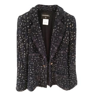 Chanel Navy Tweed Chain Button Tailored Jacket