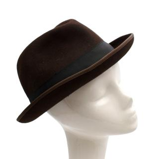 J. Lindeberg Brown Logan Felt Hat