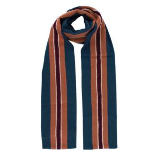 Hilfiger Collection Blue Striped Wool blend Scarf