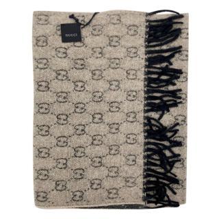 Gucci Reversible Monogram Cashmere Shawl