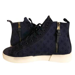 Louis Vuitton Monogram Stella High Top Sneakers