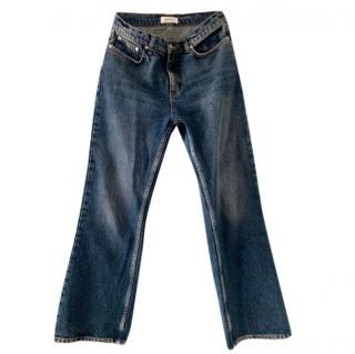 Anine Bing Ankle Crop Flared Jeans