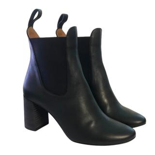 Chloe Black Leather Echo Pull-On Boots