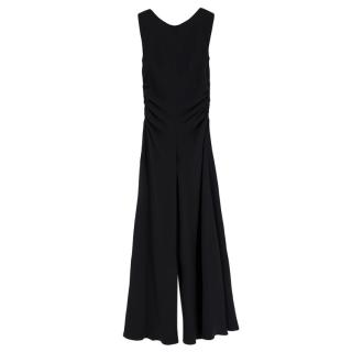 Yves Saint Laurent Black Jumpsuit with Ruffled Details