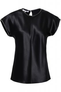 Helmut Lang Zip Detailed Satin Top