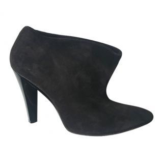 Balenciaga black Suede Cone Heel Ankle Boots