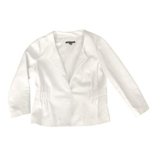 Theory Ivory Leather Lidia Jacket