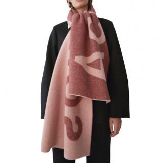 Acne Studios Pink Toronto Wool Blend Scarf