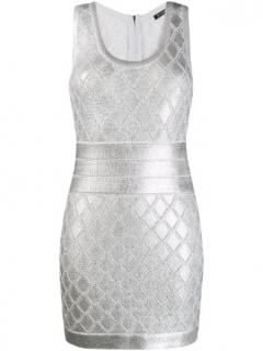Balmain Metallic Crochet Sleeveless Dress