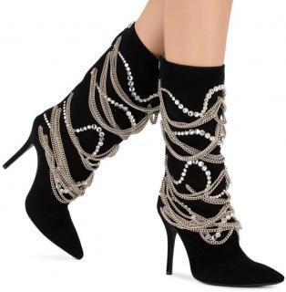 Giuseppe Zanotti Notte Chain Boots In Black