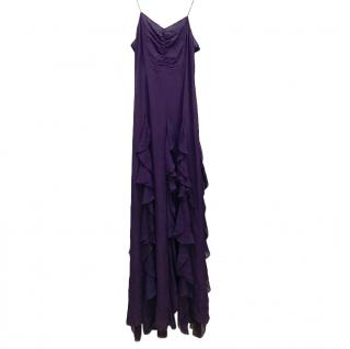 Givenchy Purple Ruffled Evening Gown