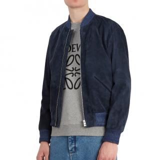 Loewe Blue Suede bomber jacket