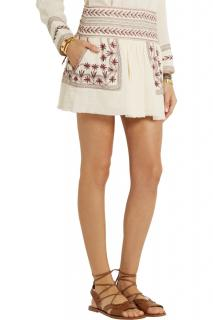 Isabel Marant Cotton Embroidered Mini Skirt