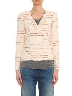Isabel Marant Etoile Glenn Cream Striped Tweed Jacket