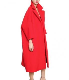 Jil Sander New Season Red Cashmere Blend Oversize Coat