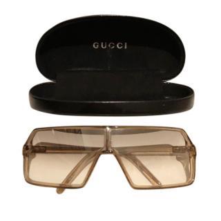 Gucci VIntage Clear Shield Sunglasses