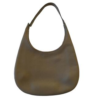 Hermes Etoupe Clemence Leather Gao Hobo Tote Bag