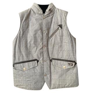 Y3 Yohji Yamamoto Prince of Wales Check Sleeveless Jacket
