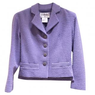 Chanel Lilac Tailored Tweed Metiers D'Art Jacket