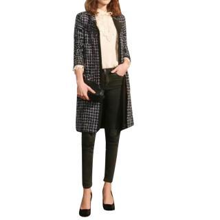 Chanel Blue Fantasy Tweed Longline Coat