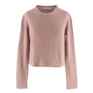 Christian Dior Pink Knit J'Adior 8 Cashmere Sweater