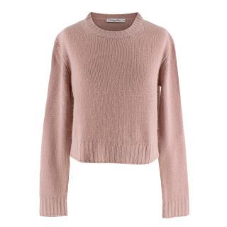 Christian Dior Pink Knit J'Adior 8 Cashmere Sweater