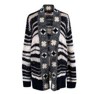 Missoni Open Knit Wool Blend Cardigan