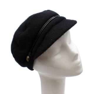 Eugenia Kim Black Cashmere Breton Hat